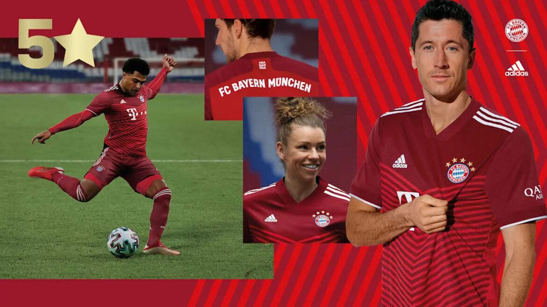 Camisas do Bayern de Munique 2021-2022 Adidas a