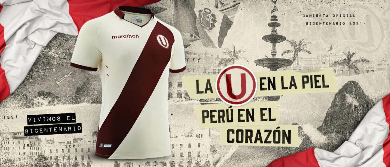Camisas do Bicentenário da Independência do Peru Universitario 2021 Marathon a