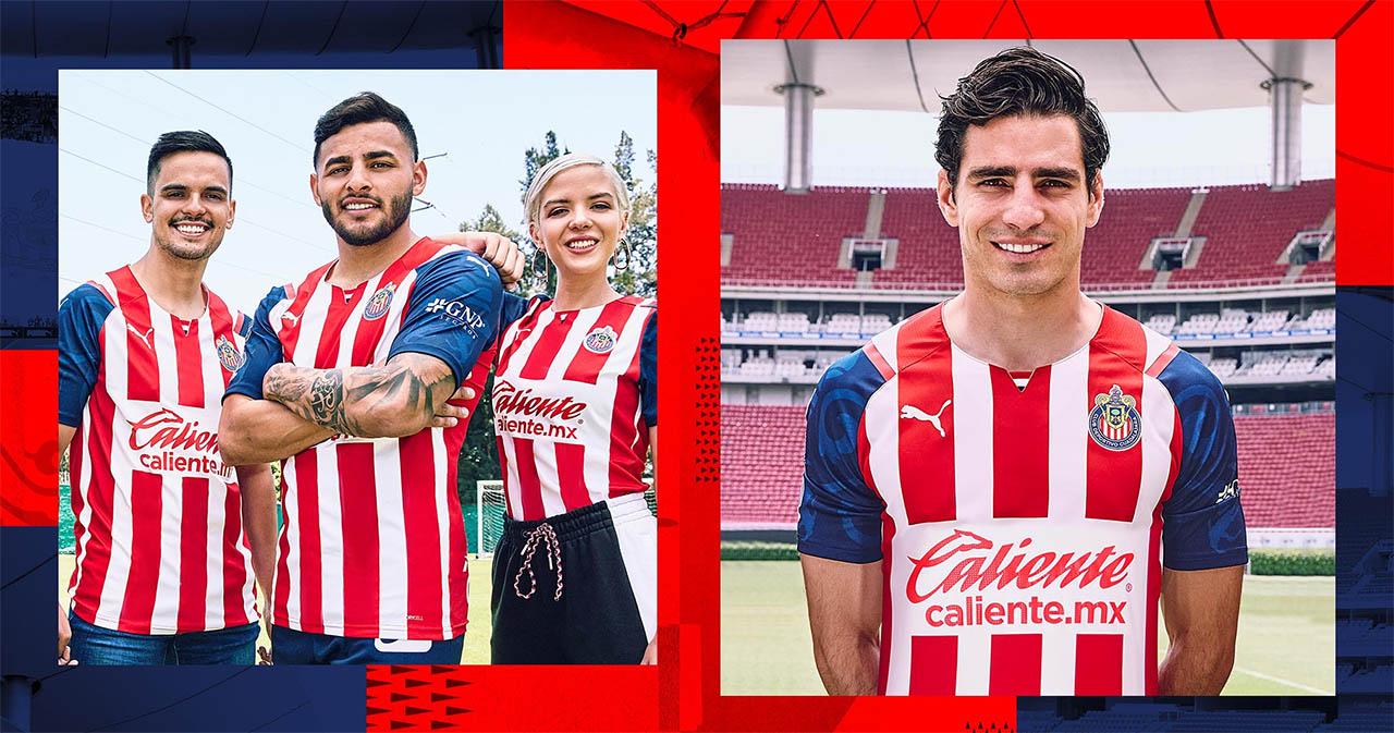 Camisas do Chivas Guadalajara 2021-2022 PUMA Home