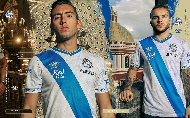 Camisas do Club Puebla 2021-2022 Umbro a