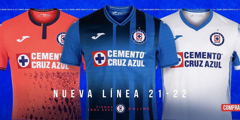 Camisas do Cruz Azul 2021-2022 JOMA