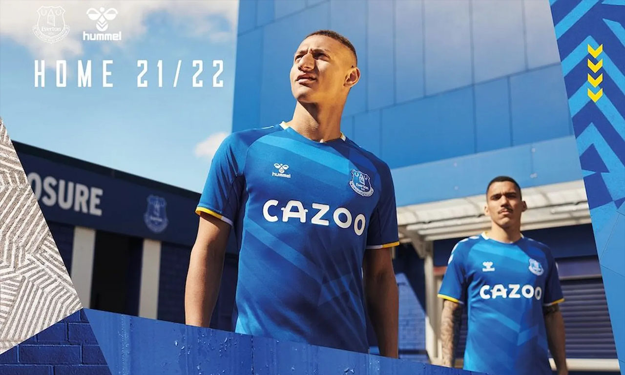 Camisas do Everton FC 2021-2022 Hummel a