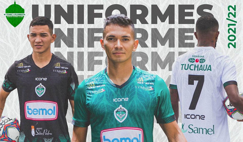 Camisas do Manaus FC 2021-2022 Icone Sports a