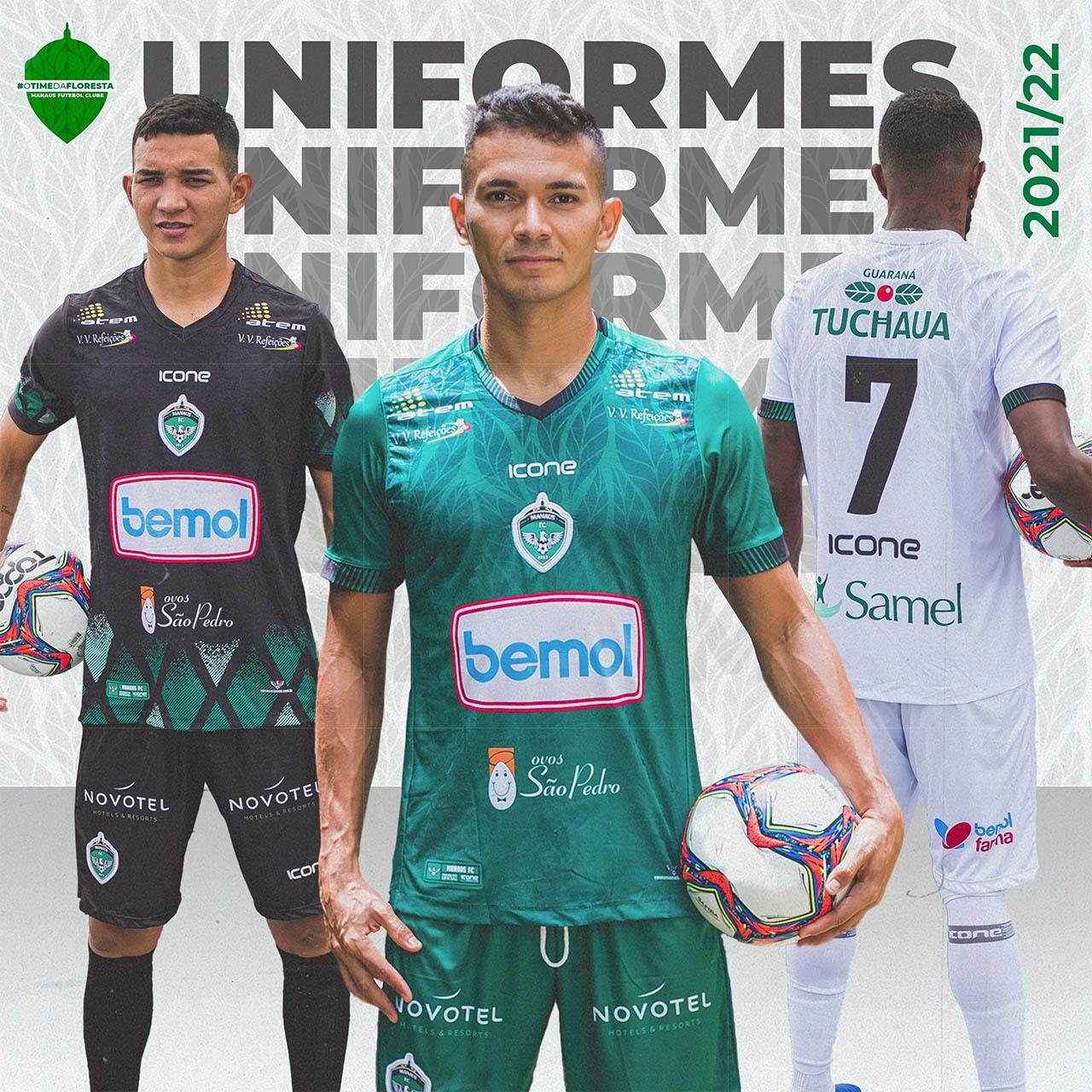 Camisas do Manaus FC 2021-2022 Icone Sports