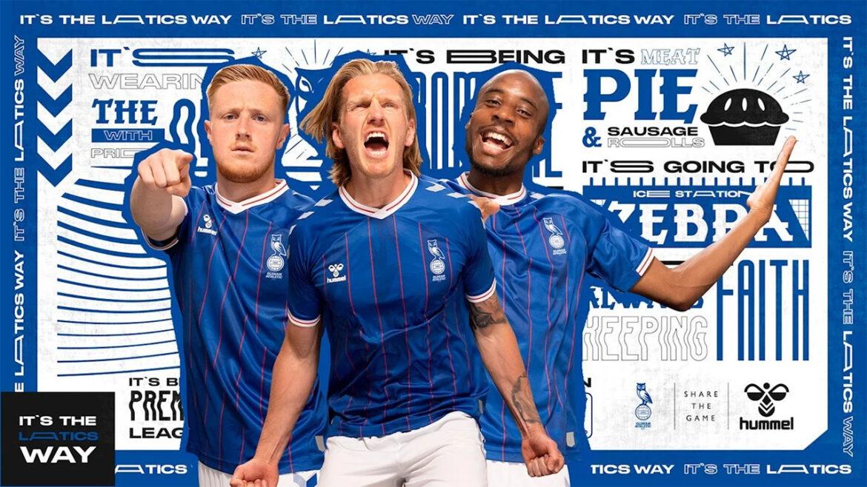 Camisas do Oldham Athletic 2021-2022 Hummel a
