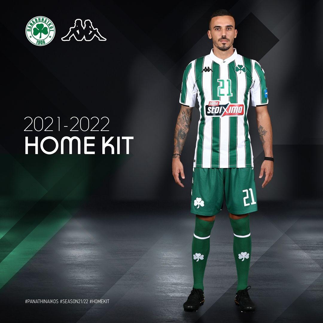 Camisas do Panathinaikos 2021-2022 Kappa