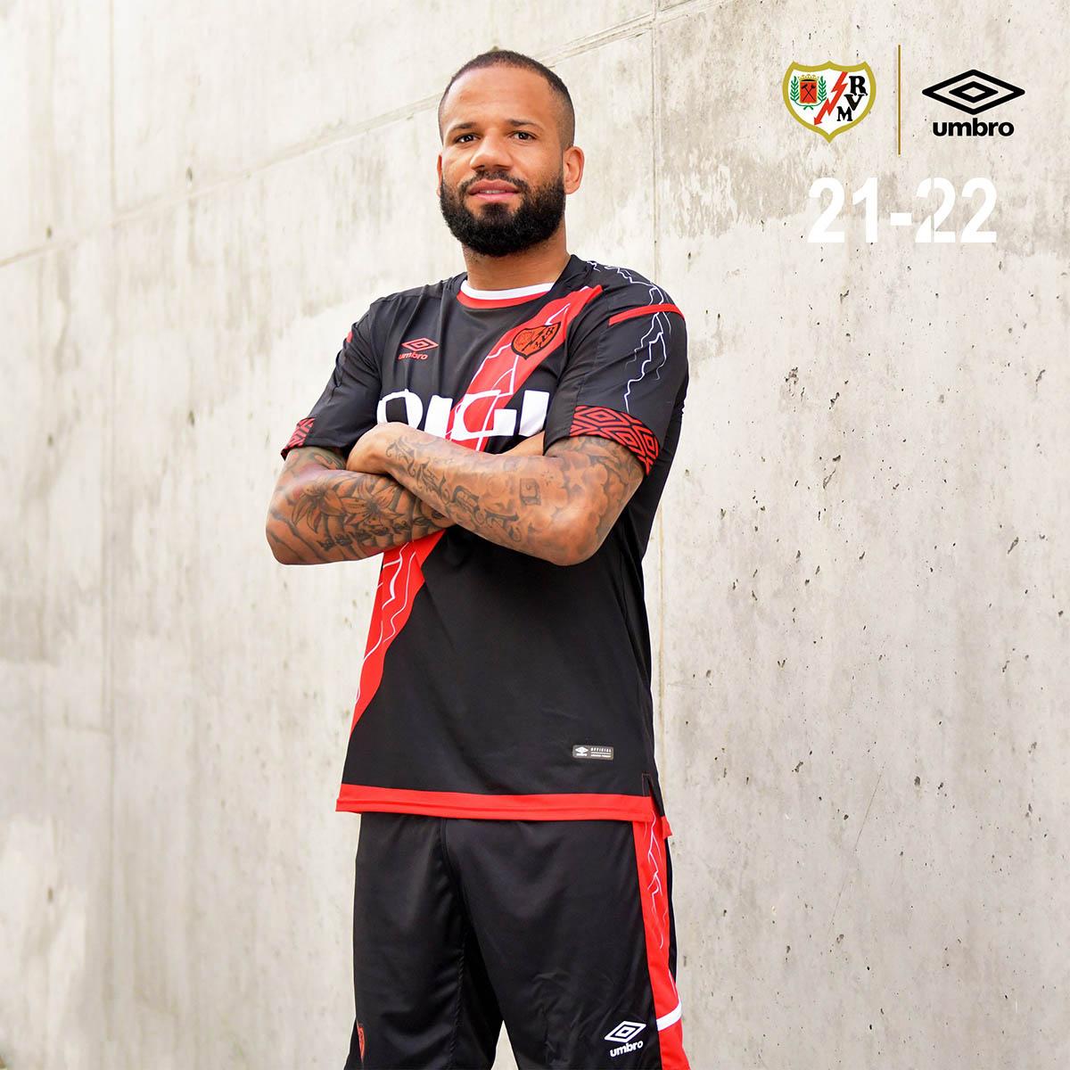 Camisas do Rayo Vallecano 2021-2022 Umbro Reserva