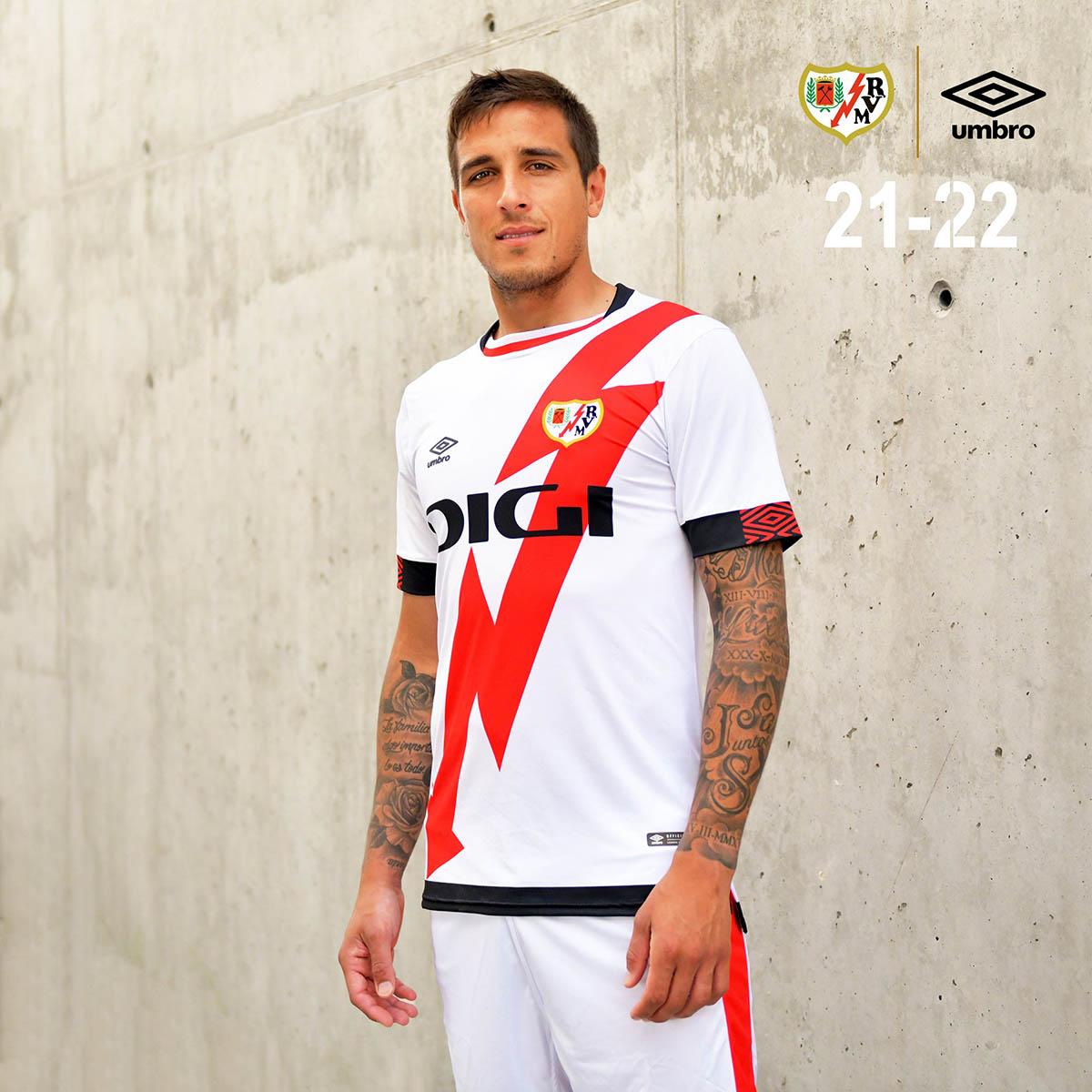 Camisas do Rayo Vallecano 2021-2022 Umbro Titular