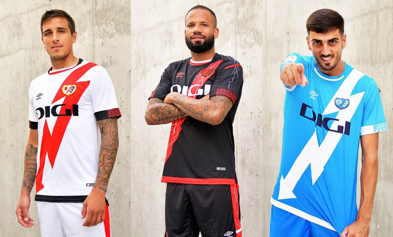 Camisas do Rayo Vallecano 2021-2022 Umbro a