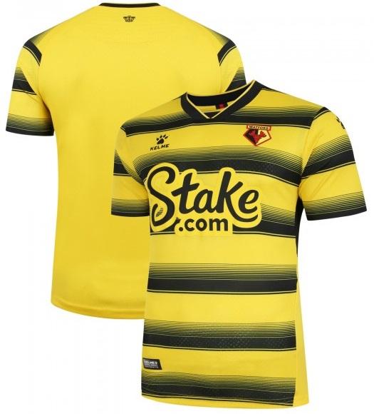 Camisas do Watford FC 2021-2022 Kelme