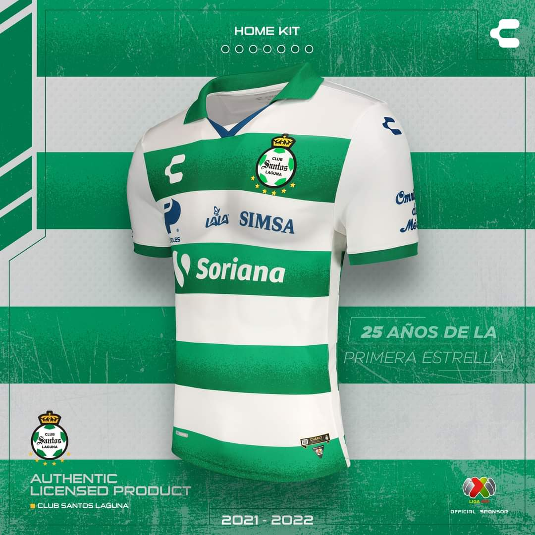 Camisas do Santos Laguna 2021-2022 Charly