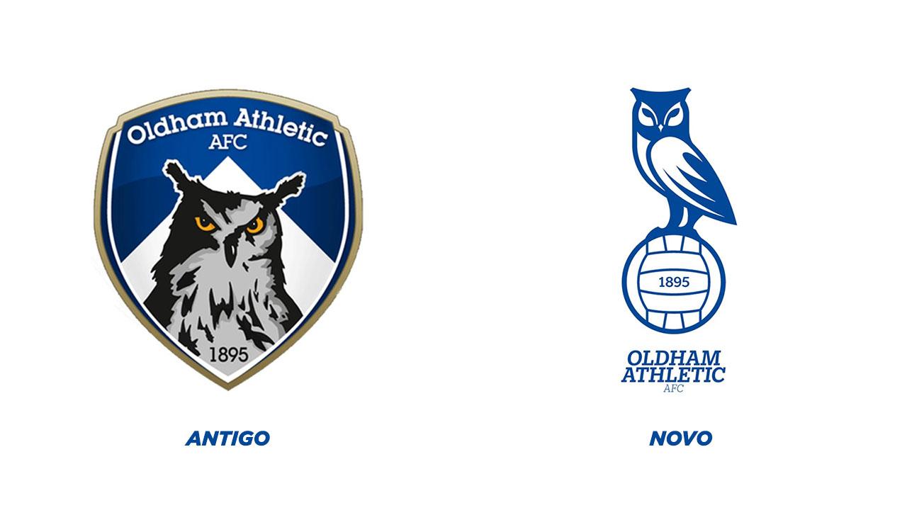 Novo escudo do Oldham Athletic 2021-2022