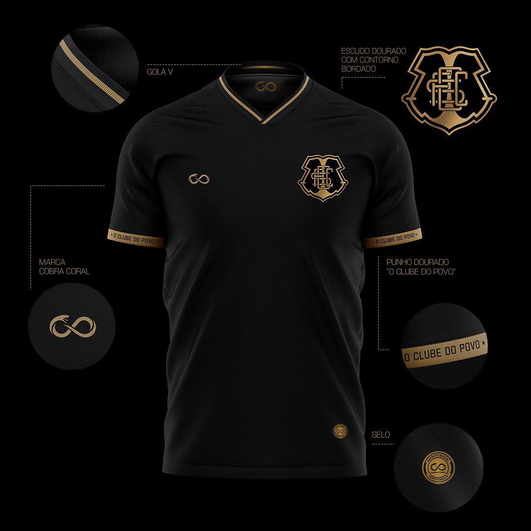 Terceira camisa do Santa Cruz FC 2021-2022 Cobracoral