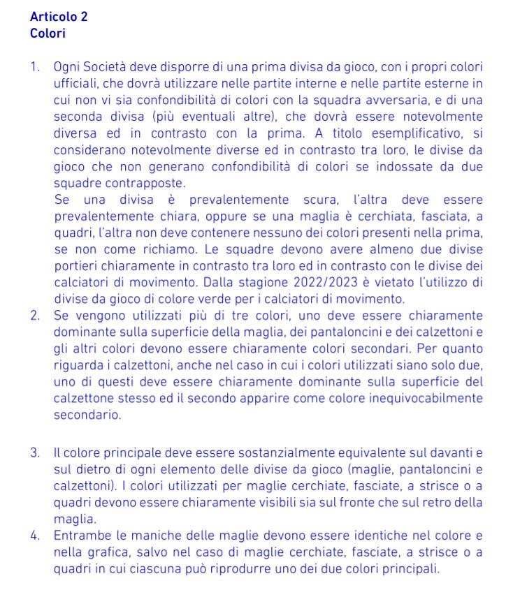 Verde vetado Serie A 2022-2023