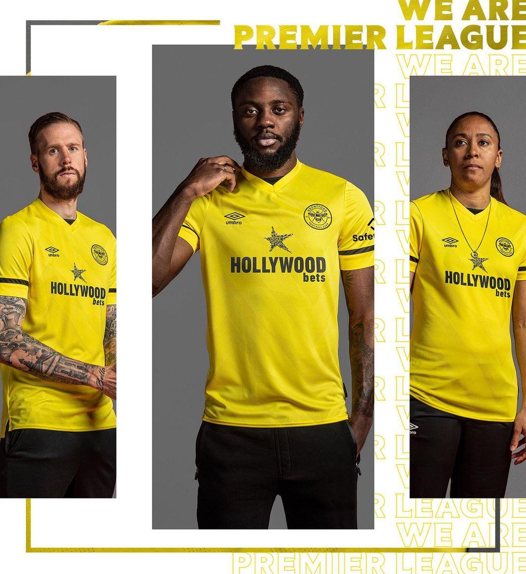 Camisas do Brentford FC 2021-2022 Umbro