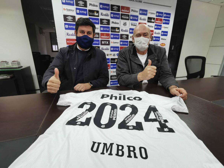 Umbro renova acordo com o Santos FC até 2024