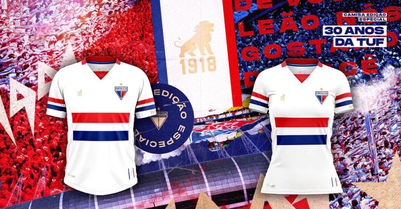 Camisa 30 anos da TUF do Fortaleza 2021 Leão1918 a
