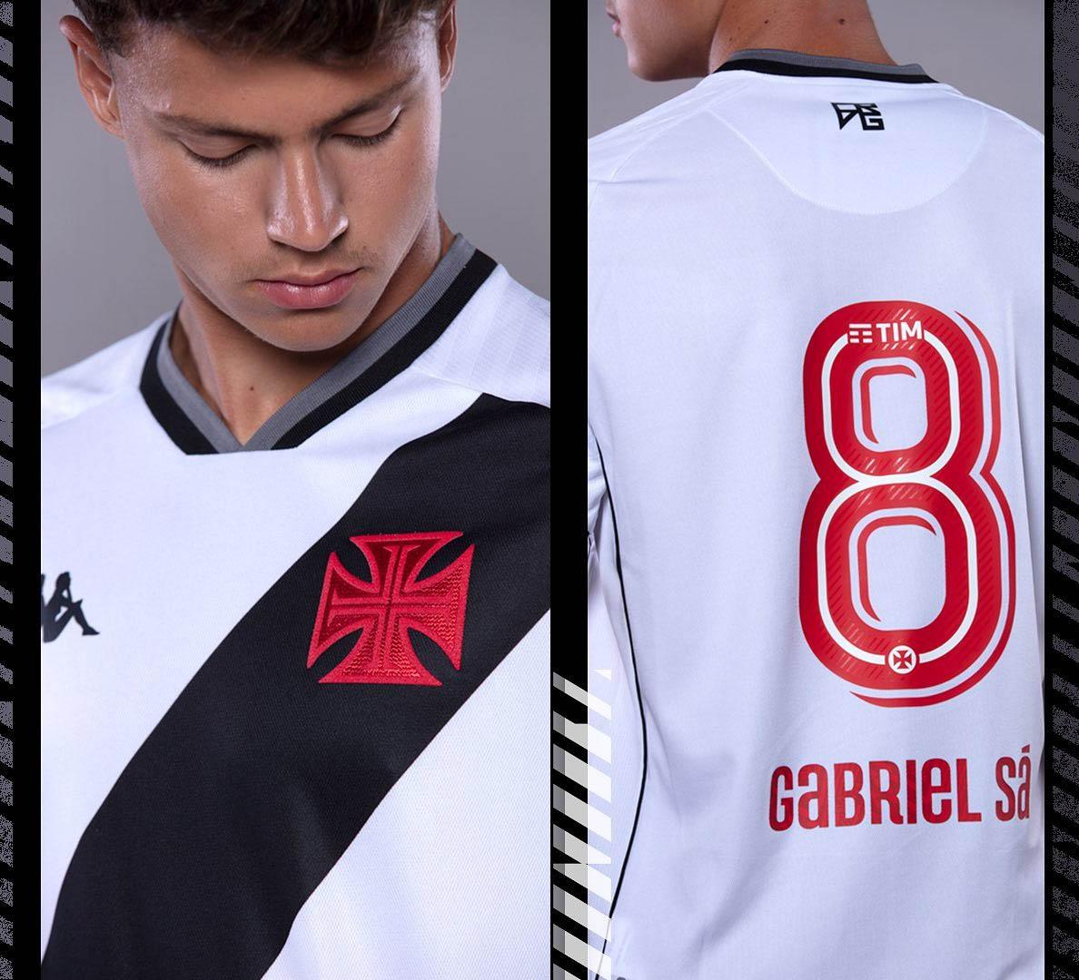 Camisa branca do Vasco da Gama 2021-2022 Kappa