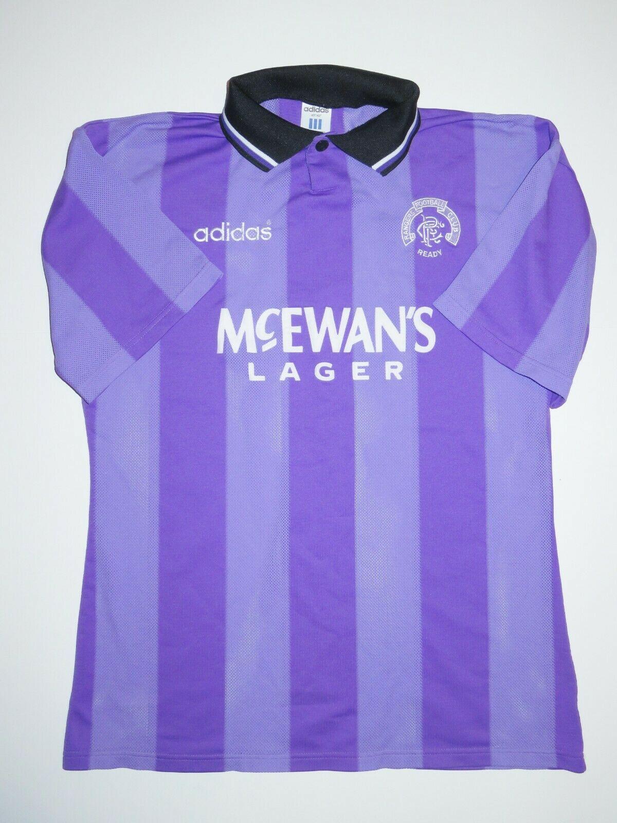Camisa roxa do Rangers FC 1994-1995 Adidas