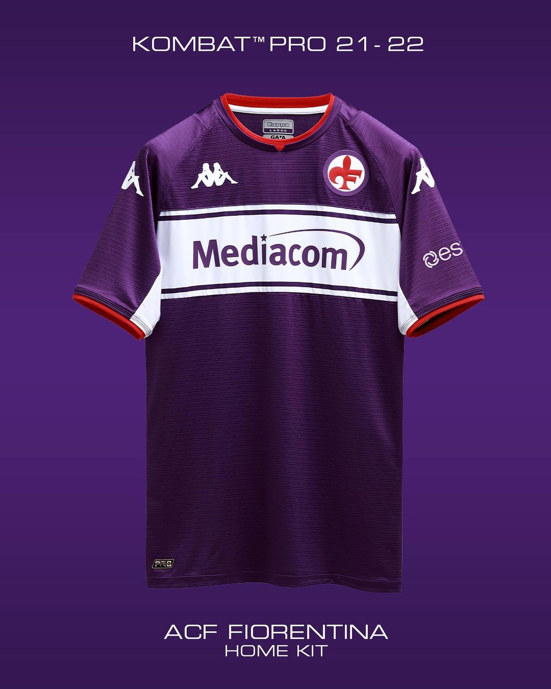 Camisas da Fiorentina 2021-2022 Kappa kit 1