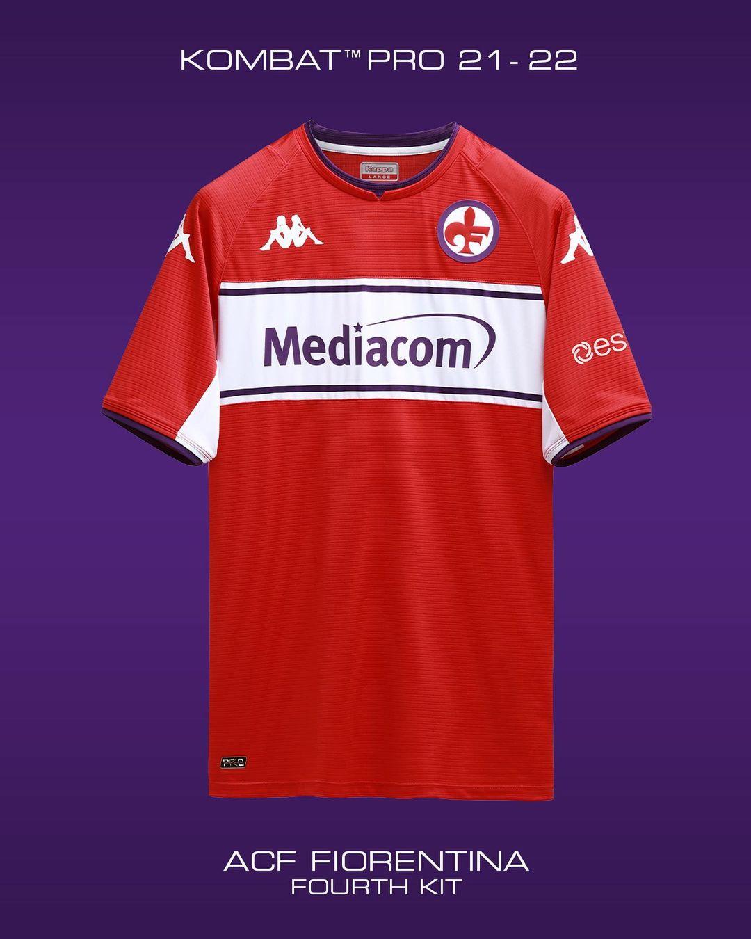 Camisas da Fiorentina 2021-2022 Kappa kit
