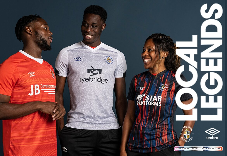 Camisas do Luton Town 2021-2022 Umbro