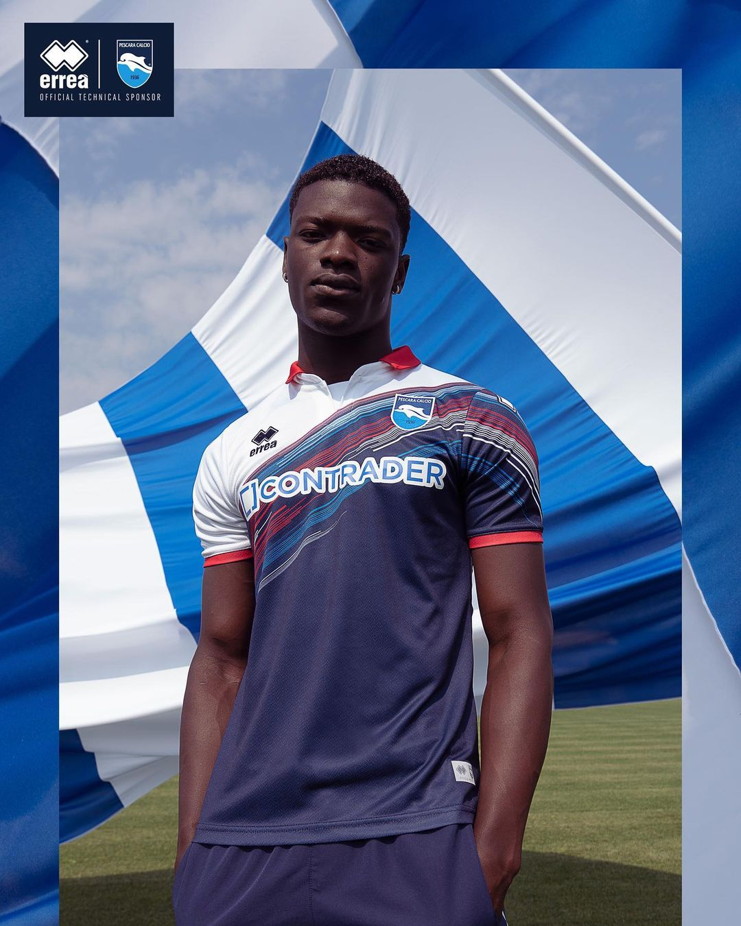 Camisas do Pescara Calcio 2021-2022 Erreà