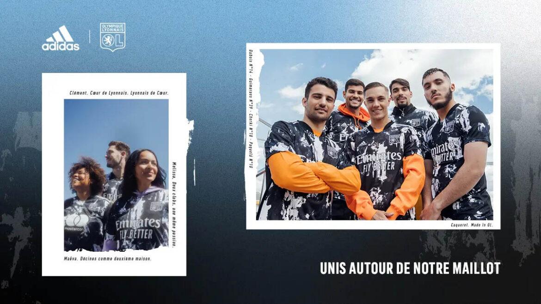 Terceira camisa do Olympique Lyon 2021-2022 Adidas a
