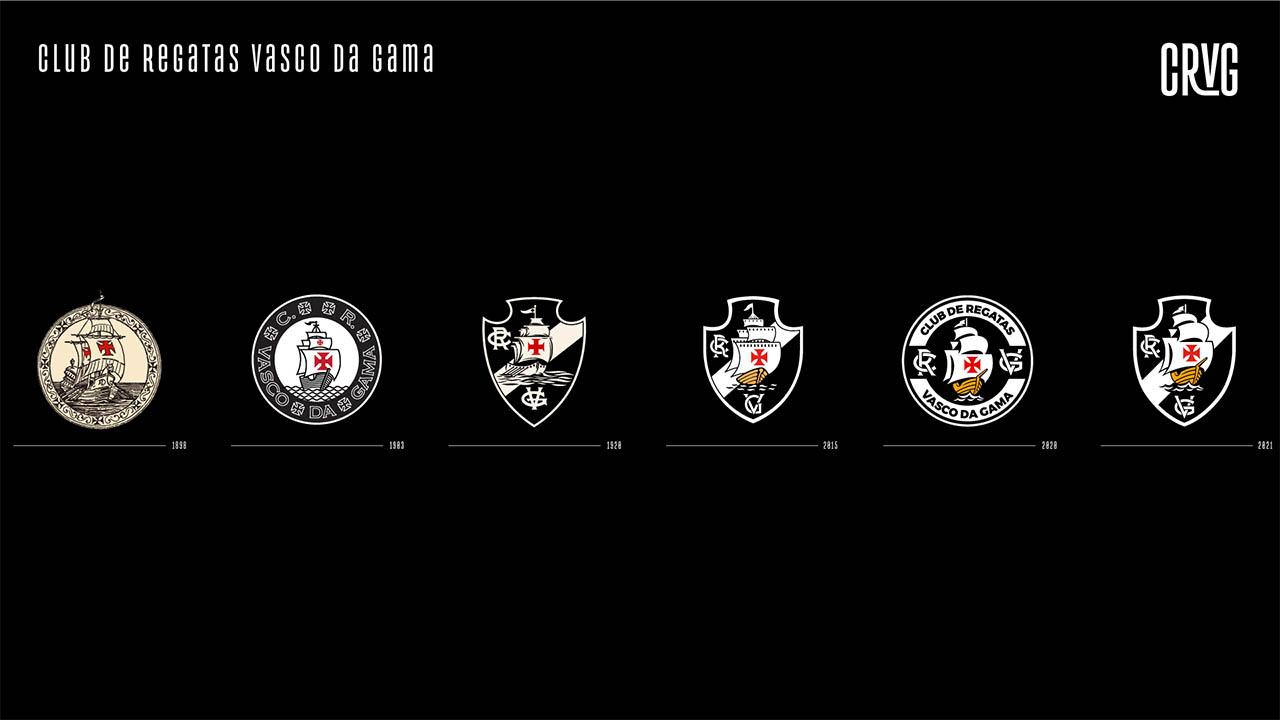 evolução do escudo do Vasco da Gama - 2021