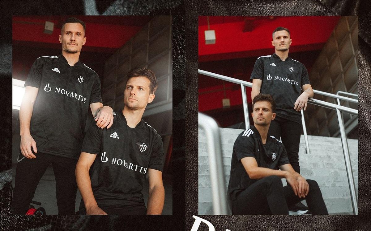 Camisa Blackout do FC Basel 2021-2022 Adidas