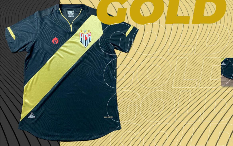 Camisa Gold Edition Atlético GO 2021 Dragão Premium a