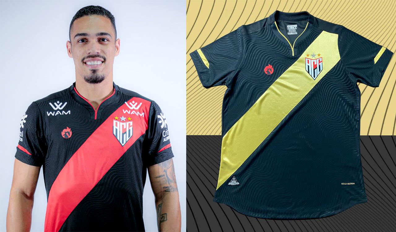 Camisa Gold Edition Atlético GO 2021 Dragão Premium comparação