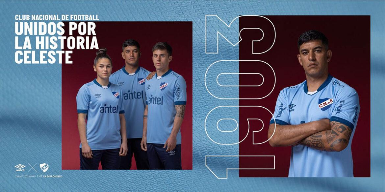 Camisa celeste do Club Nacional 2021-2022 Umbro a