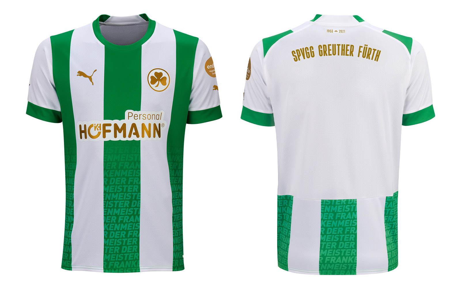 Camisa dos 108 anos do Greuther Furth 2021-2022 PUMA kit