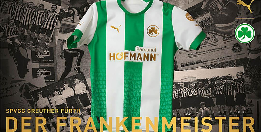 Camisa dos 108 anos do Greuther Furth 2021-2022 PUMA kit a