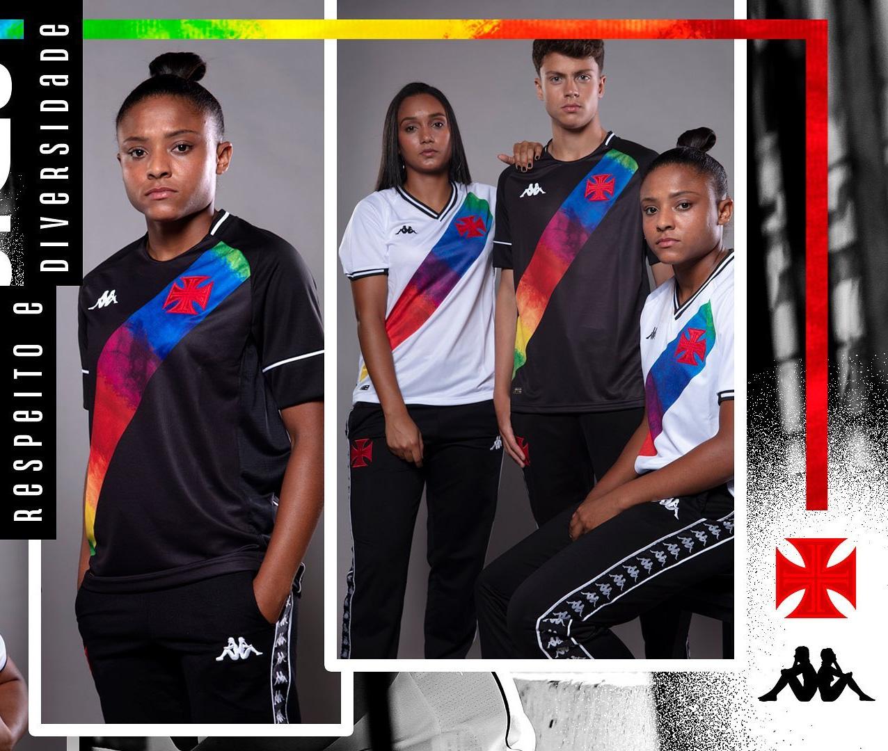 Camisa preta Orgulho LGBTQIA+ Vasco da Gama 2021 Kappa 1