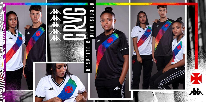 Camisa preta Orgulho LGBTQIA+ Vasco da Gama 2021 Kappa