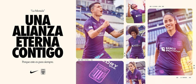Camisa roxa do Alianza Lima 2021 Nike a