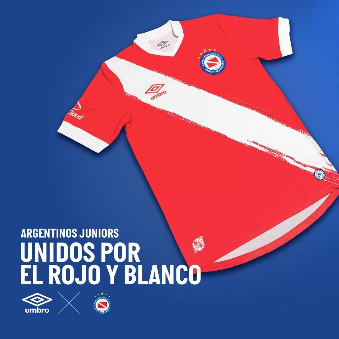 Camisa titular do Argentinos Juniors 2021-2022 Umbro