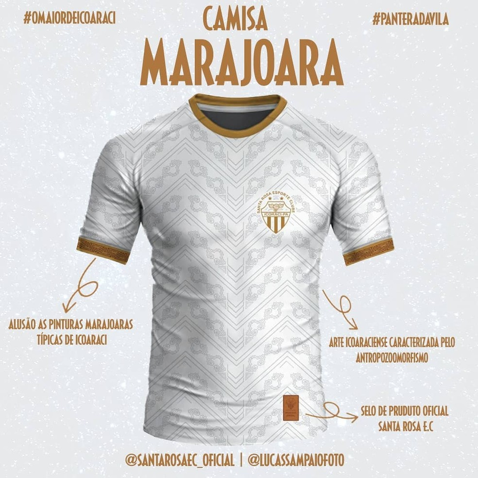 Camisas Pantera Negra e Marajoara do Santa Rosa 2021