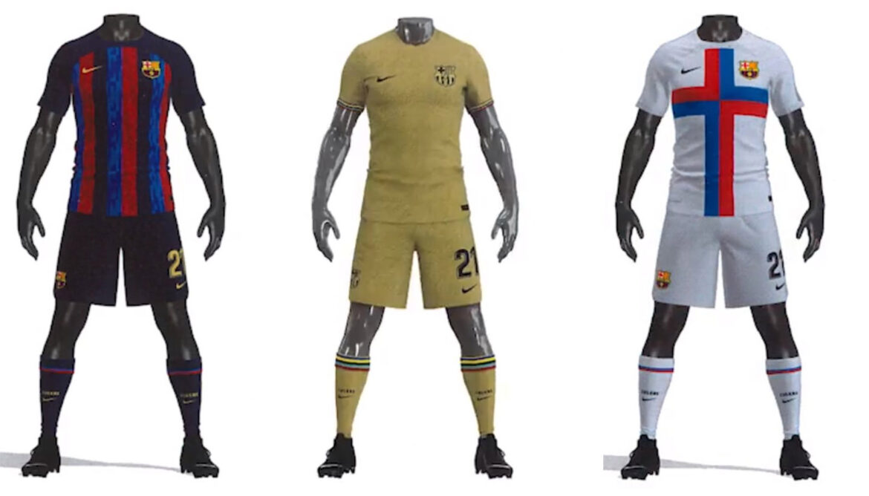 Camisas do Barcelona 2022-2023 Nike a