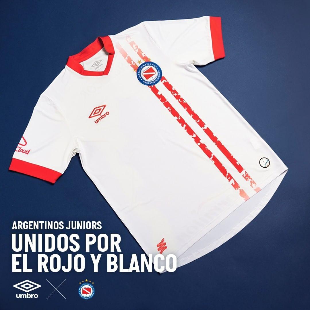 Camisa reserva do Argentinos Juniors 2021-2022 Umbro