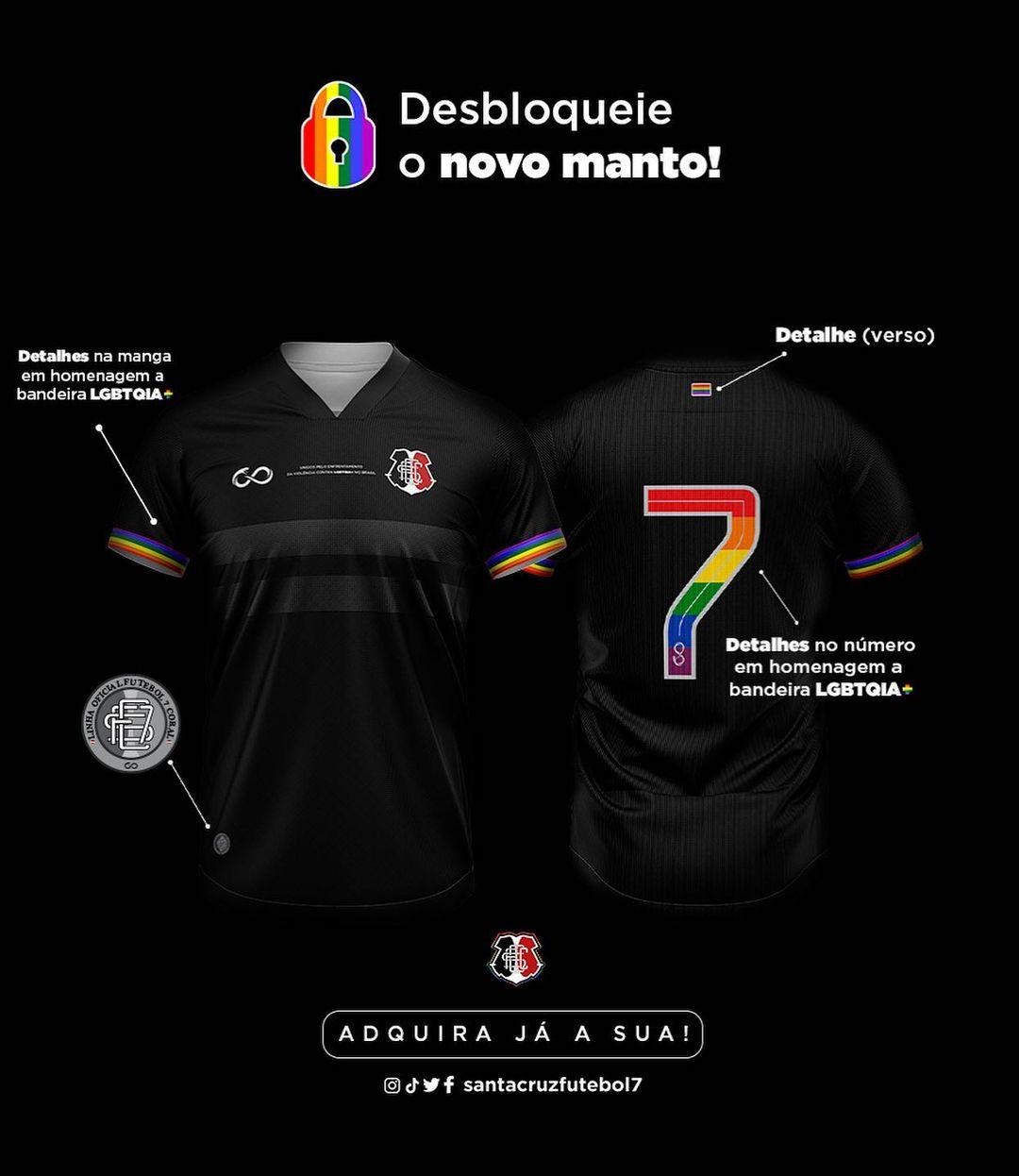 Santa Cruz FC lança camisas contra LGBTfobia